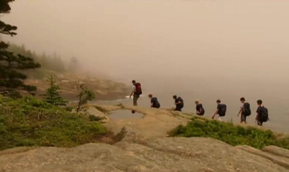 hiking fog capture